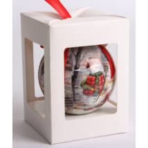 Karácsonyfadísz Díszdobozban - Antik Hóember  7,5 cm