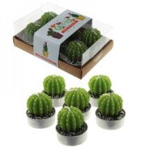 Díszgyertya - Kaktusz - 6 db