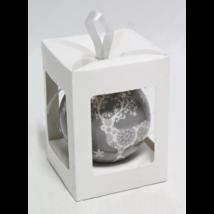 Karácsonyfadísz Díszdobozban - Csipkés Rénszarvas  7,5 cm