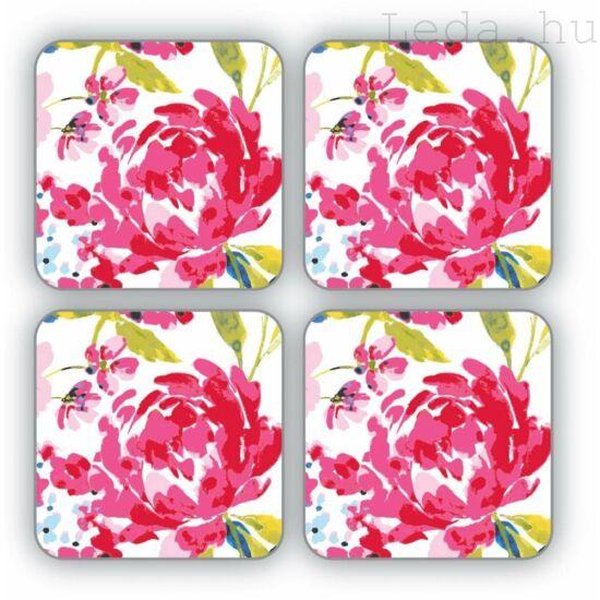 Floral Romance Poháralátét 4 db