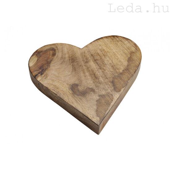 Mango Vágódeszka - Szív alakú - 26 cm