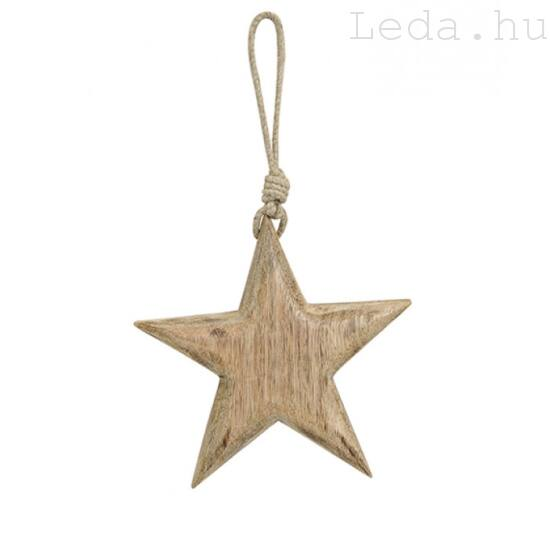 Fa Csillag Ajtódísz - 15 cm