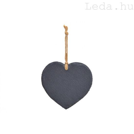 Felakasztható Pala Tábla - Szív alakú - 16 cm
