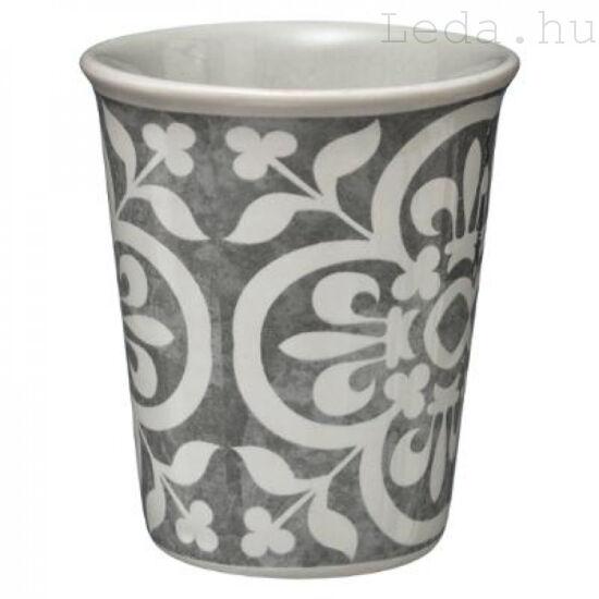 Grey Patchwork Kávés Bögre - 10 cl