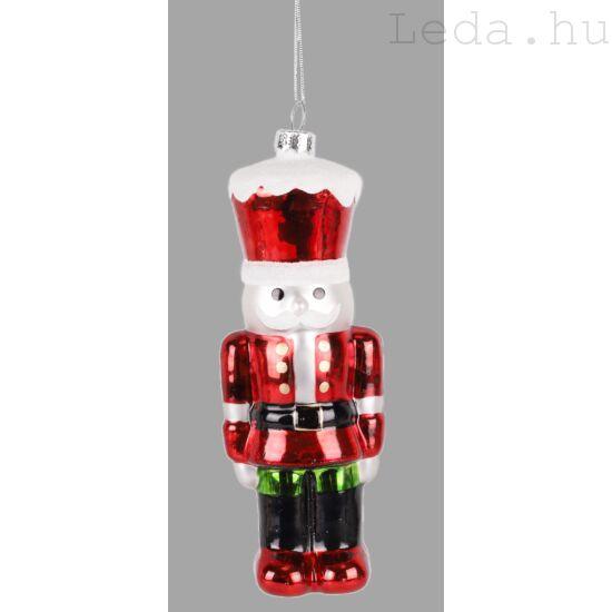 Diótörő Katona Üveg Karácsonyfadísz