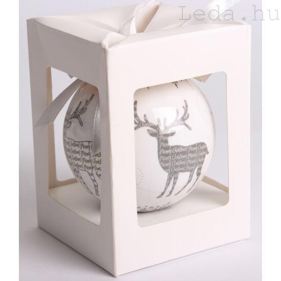 Karácsonyfadísz Díszdobozban - Rénszarvas  7,5 cm
