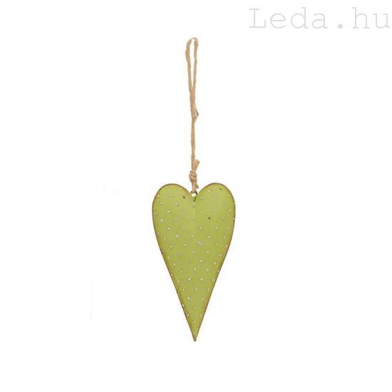 Pöttyös Szív Ajtódísz - Zöld