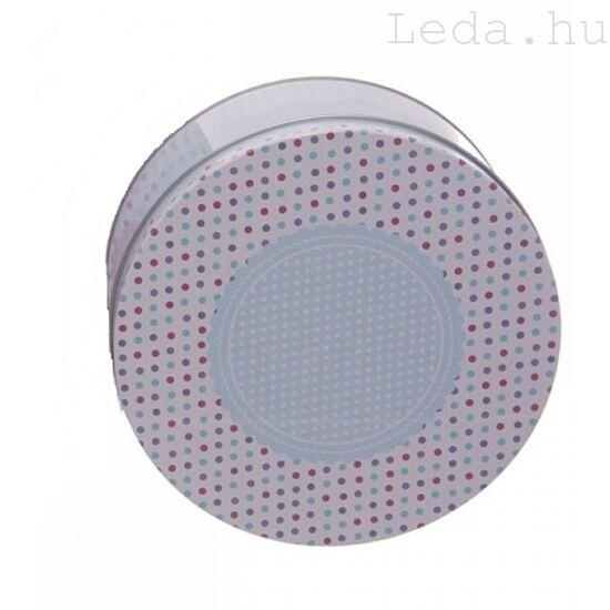 Blue Dots Fém Tárolódoboz Fedővel: kicsi