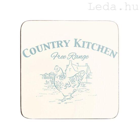 Country Kitchen 4 db Poháralátét