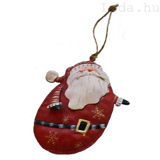 Hosszú Télapó Fém Karácsonyfadísz