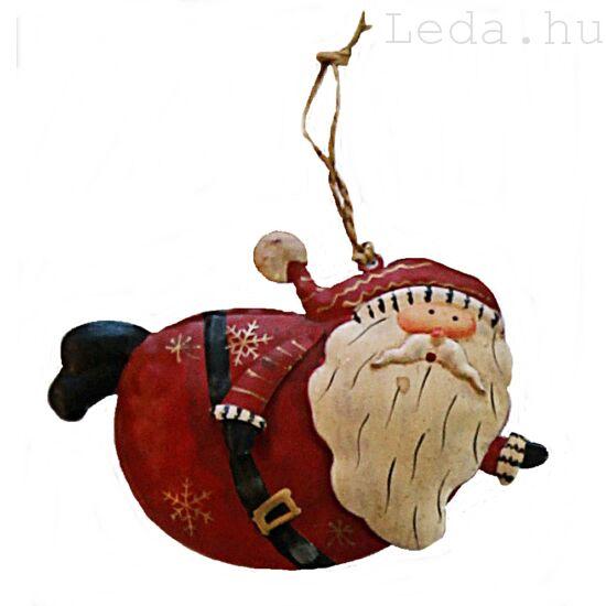Repkedő Télapó Fém Karácsonyfadísz