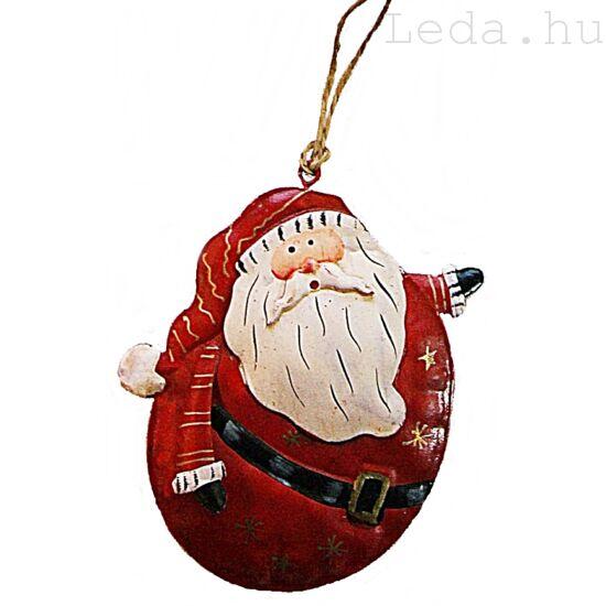 Duci Télapó fém Karácsonyfadísz