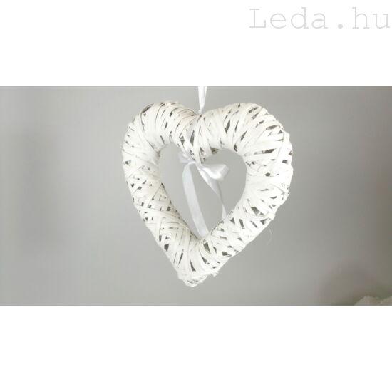 Fehér Szív Ajtókoszorú