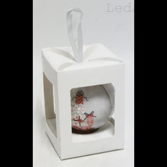 Karácsonyfadísz Díszdobozban - Mikulásszán  7,5 cm