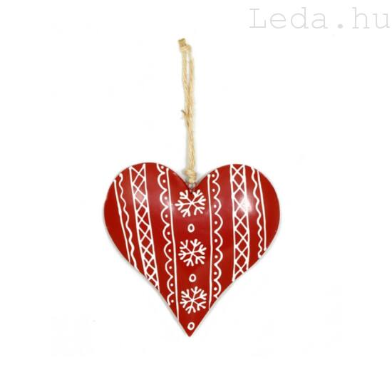 Nagy Piros Szív Ajtódísz