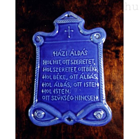 Házi Áldás Kék Tábla