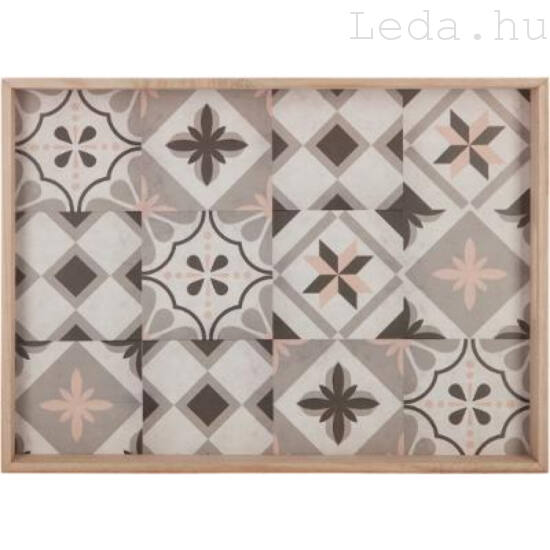 Mozaik fa tálca - 47 x 36 cm