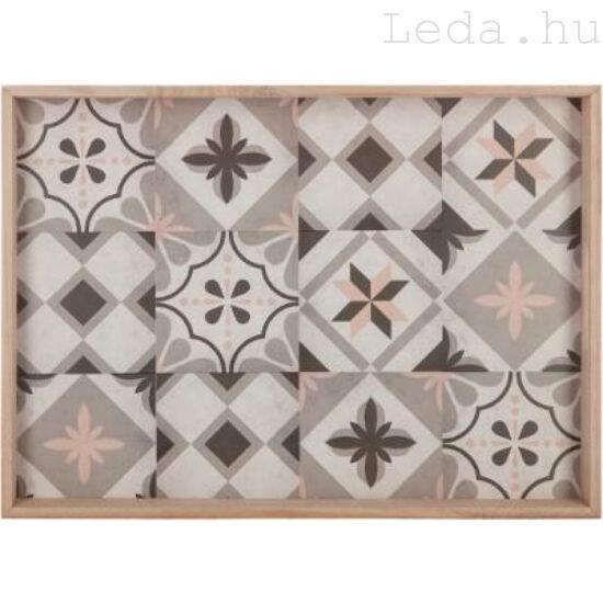 Mozaik fa tálca - 43 x 31 cm