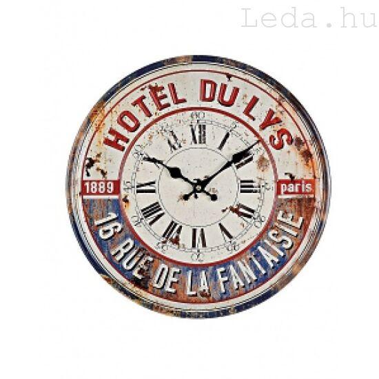 Hotel Du Lys fém falióra 40 cm