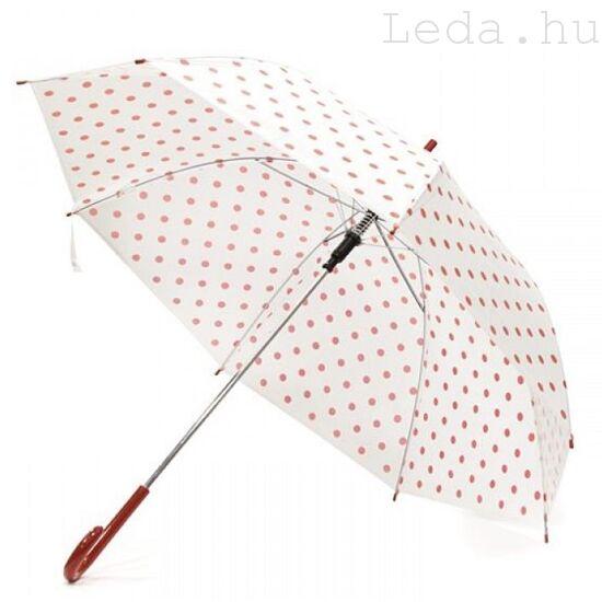 Eva Piros-fehér Pöttyös Esernyő