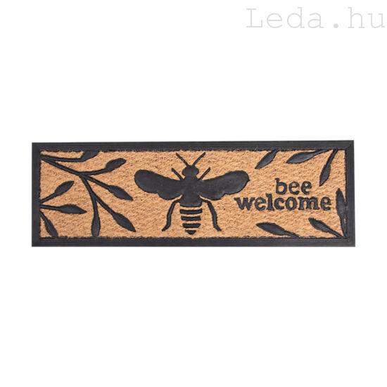 Méhecskés gumi-kókusz lábtörlő 75 X 25 cm